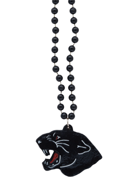 SS-BEAD-MAS-PAN Mascot Beaded Necklace Panther