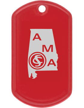 SS-DT-AMA-01, Dog Tag Alabama Military Academy (Engraved)