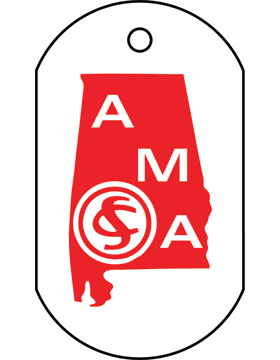 SS-DT-AMA-02, Dog Tag Alabama Military Academy (Imprinted)