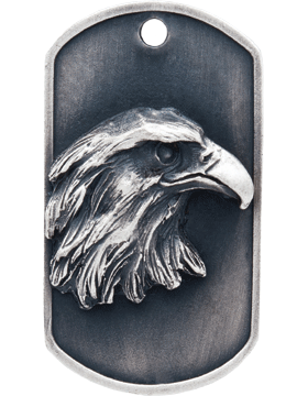 SS-DT-M-01, Dog Tag Eagle Mascot (Embossed)
