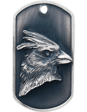 SS-DT-M-02, Dog Tag Cardinal Mascot (Embossed)