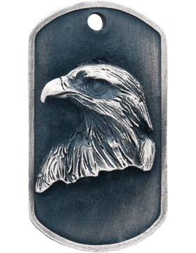 SS-DT-M-03, Dog Tag Falcon Mascot (Embossed)