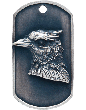 SS-DT-M-04, Dog Tag Bluejay Mascot (Embossed)