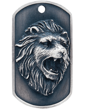 SS-DT-M-05, Dog Tag Lion Mascot (Embossed)