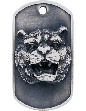 SS-DT-M-06, Dog Tag Tiger Mascot (Embossed)