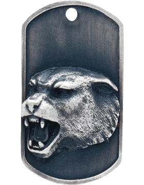 SS-DT-M-07, Dog Tag Panther Mascot (Embossed)