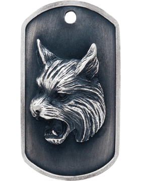 SS-DT-M-09, Dog Tag Bobcat Mascot (Embossed)