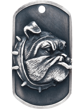 SS-DT-M-10, DogTag Bulldog Mascot (Embossed)