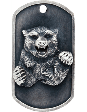 SS-DT-M-11, Dog Tag Bear Mascot (Embossed)