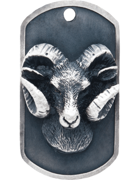 SS-DT-M-12, Dog Tag Ram Mascot (Embossed)