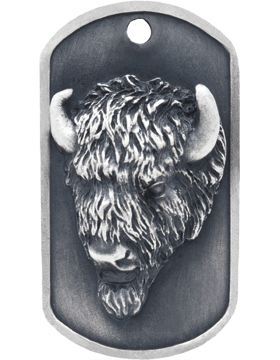 SS-DT-M-13, Dog Tag Buffalo Mascot (Embossed)