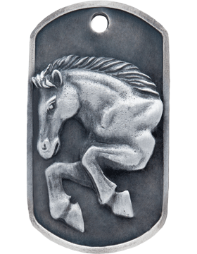 S-DT-M-14, Dog Tag Mustang Mascot (Embossed)