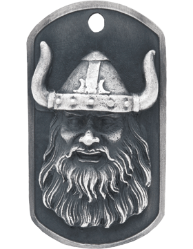 SS-DT-M-16, Dog Tag Viking Mascot (Embossed)
