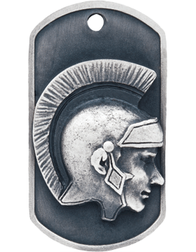 SS-DT-M-17, Dog Tag Trojan/Spartan Mascot (Embossed)