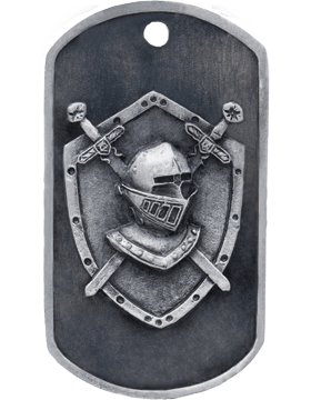 SS-DT-M-18, Dog Tag Knight Mascot (Embossed)