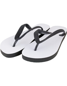 Custom Adult Flip Flops with Black Strap