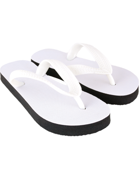 Custom Adult Flip Flops with White Strap