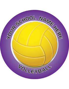 Customizable Stock Design for Locker Sticker Volleyball 5.5in