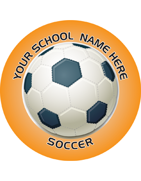 Customizable Stock Design for Locker Sticker Soccerball 5.5in