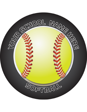 Customizable Stock Design for Locker Sticker Softball 5.5in