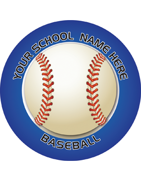 Customizable Stock Design for Locker Sticker Baseball 5.5in