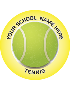 Customizable Stock Design for Locker Sticker Tennis 5.5in