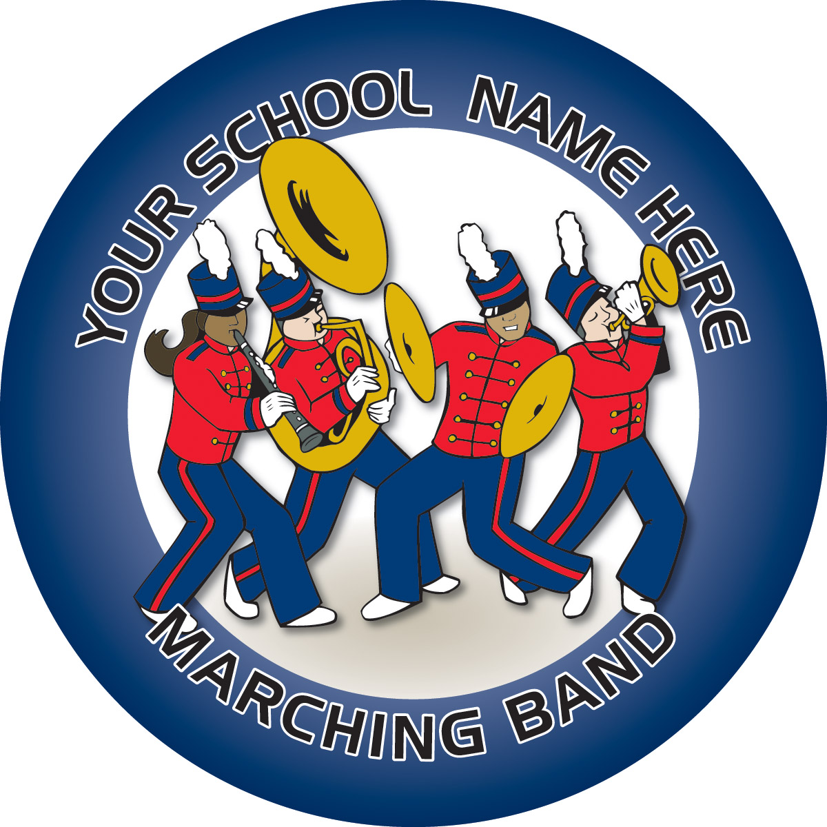 Customizable Stock Design For Locker Sticker Marching Band