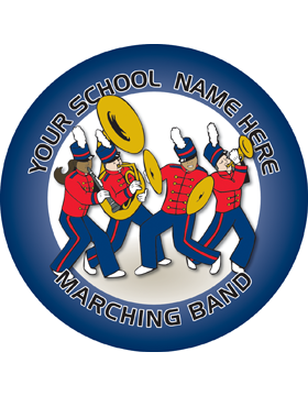 Customizable Stock Design for Locker Sticker Marching Band 5.5in