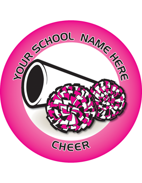Customizable Stock Design for Locker Sticker Cheer 5.5in