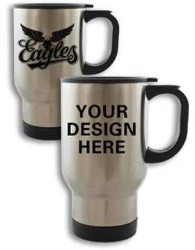 Custom Sublimation Travel Mug, 14oz Stainless Steel
