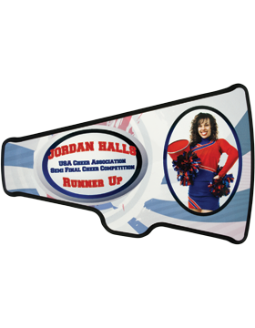 Custom Sublimation Megaphone Plaque (6-11)