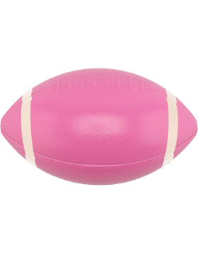 Custom Sports Ball 6 inch Plastic Football with Stripes Awareness Pink