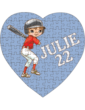 Custom Puzzle Heart 75 Pc, 7.25