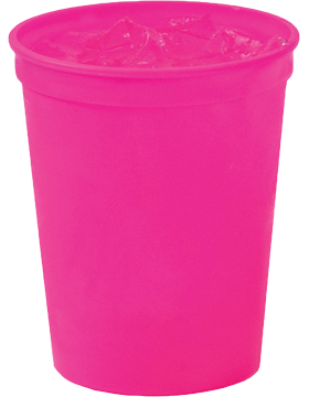 SS-SC16 Custom 16 oz. Smooth Stadium Cup Pink