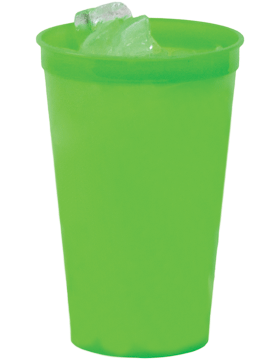SS-SC22N Custom 22 oz. Neon Translucent Stadium Cup