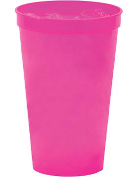 SS-SC22N Custom 22 oz. Neon Translucent Stadium Cup Pink
