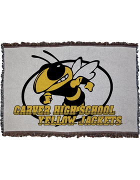 Custom Sublimation Throw Blanket, Large 38 x 54 Iin.