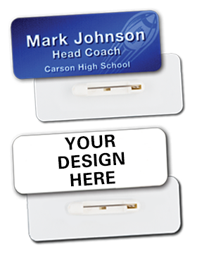 Custom Sublimation Name Badge with Pin Back