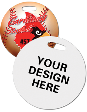 U5507-1 Custom Sublimation Round Bag Tag 1 Sided