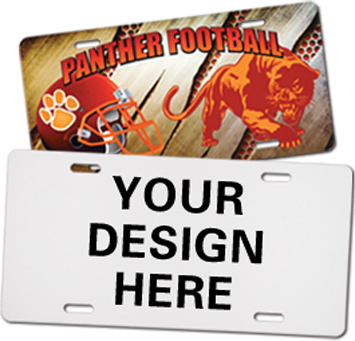 Custom Sublimation License Plate, FPR Plate 5.875inx11.875inx3/32in