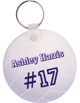 U5521 Custom Sublimation Round Fiberglass Key Tag 1 Sided