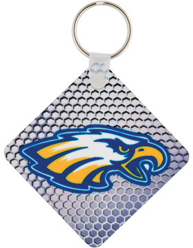 U5524 Custom Sublimation Square Fiberglass Key Tag 1 Sided