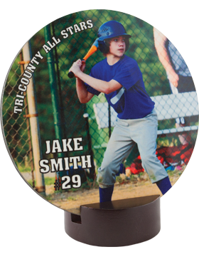 U5810 Custom Sublimation Streamline Round Award Small