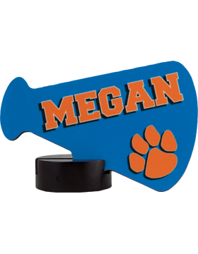Custom Sublimation Plaque Megaphone Small Streamline Award (6-11)