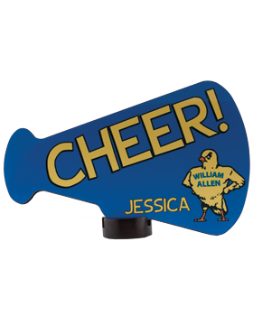 Custom Sublimation Plaque Megaphone Large Streamline Award (12-23)