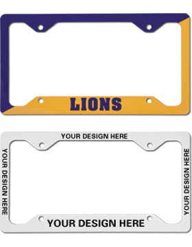 Custom Sublimation License Frame Displays Stickers & State