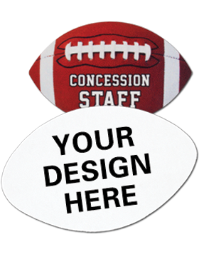 Custom Sublimation Name Badge Football with Magnet Back