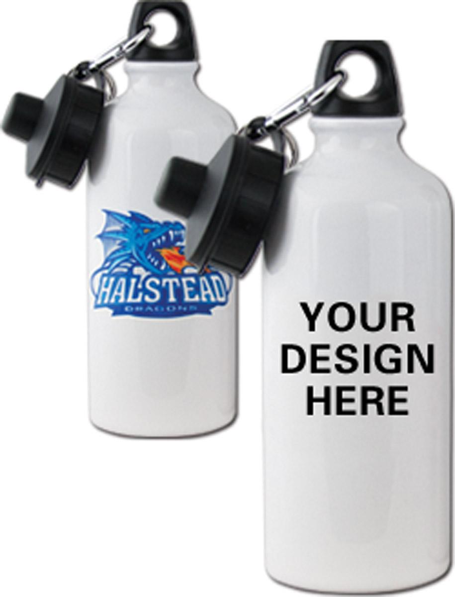 Custom Sublimation Water Bottle White Aluminum, 20oz