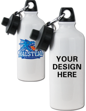 Custom Sublimation Water Bottle White Aluminum, 20oz
