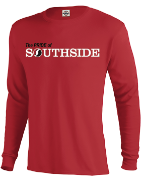 The PRIDE of Southside Cardinal Long Sleeve T-Shirt D61A